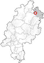Outline map of Hessen