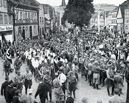 Nationalsozialisten aus dem Werratal in Vacha, 1931
