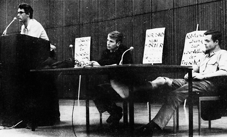 Studentisches Teach-In in Marburg, 1968