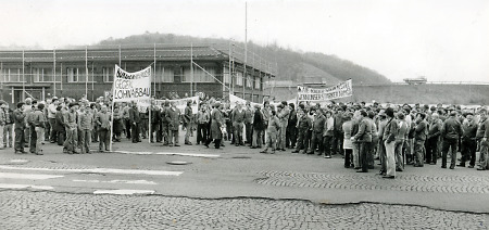 IG Metall-Streik in Burg, 10.3.1983