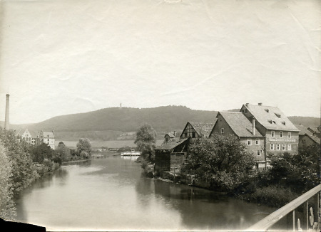 Die Lahn in Marburg, 22. Juni 1903