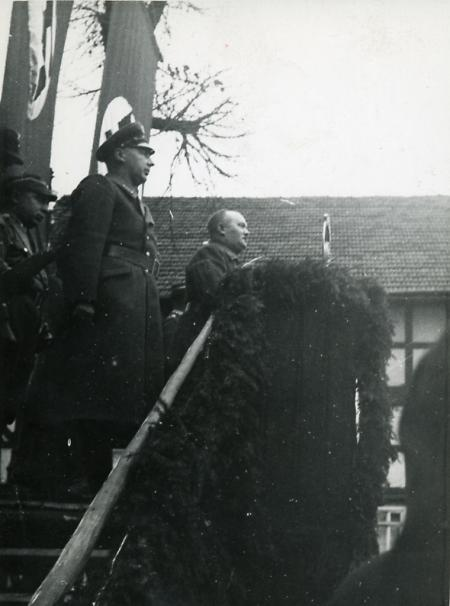 Nationalsozialistische Kundgebung in Marburg, um 1933
