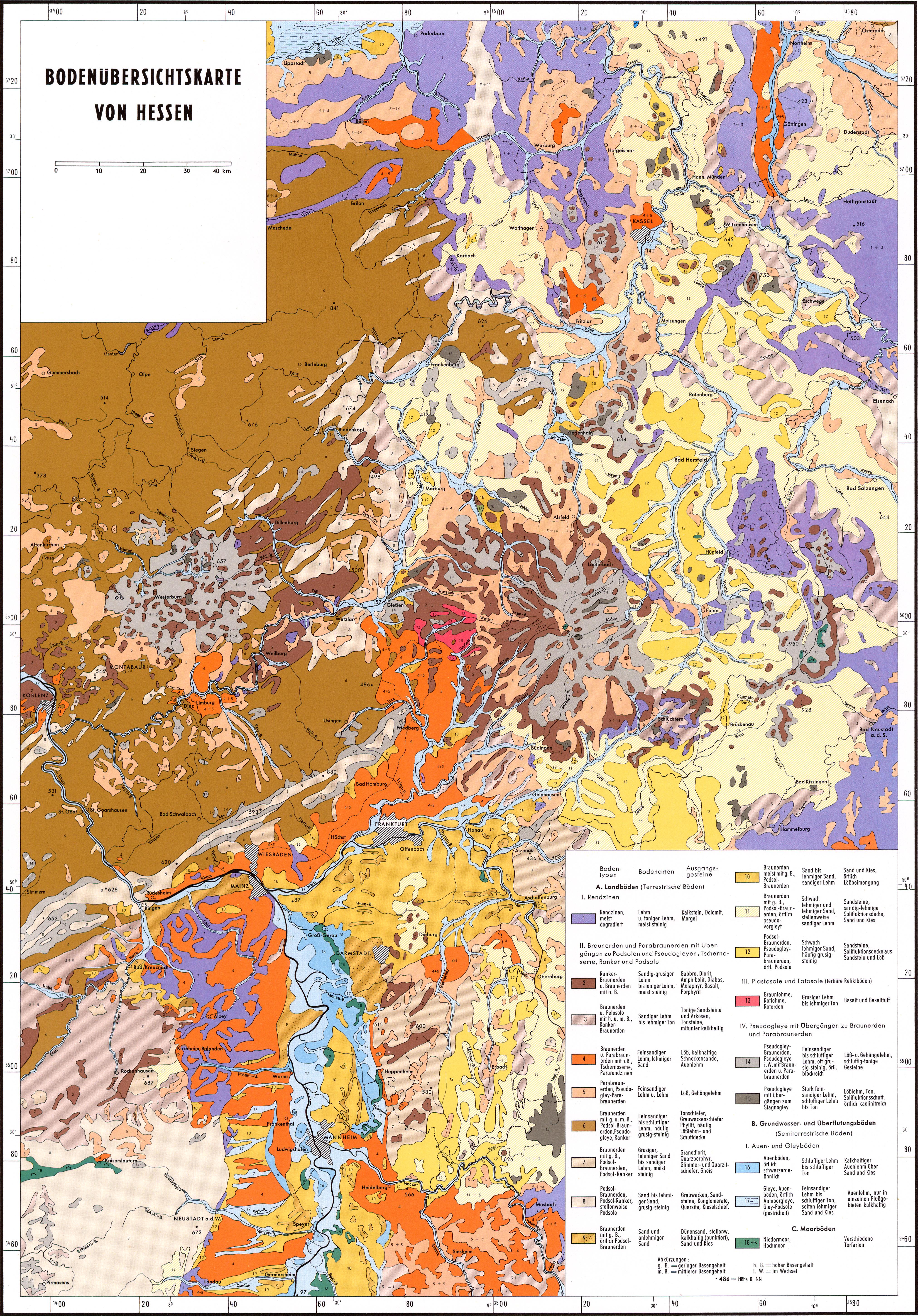 geologische karte hessen Geschichtlicher Atlas von Hessen : Blättern : LAGIS Hessen geologische karte hessen
