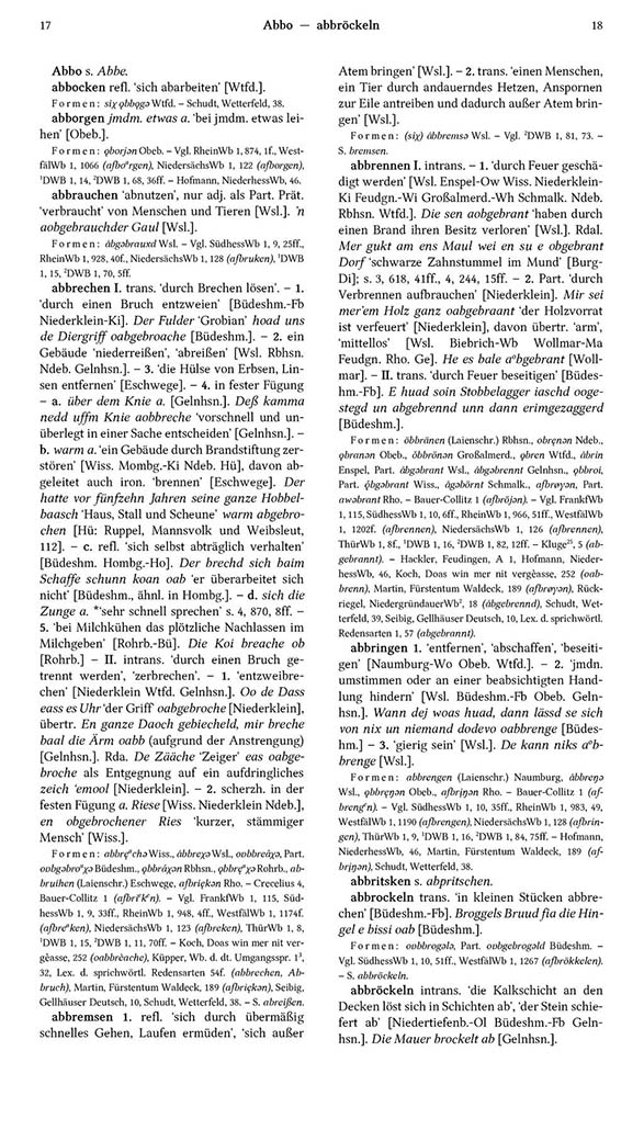 Page View: Volume 1, Columns 17–18