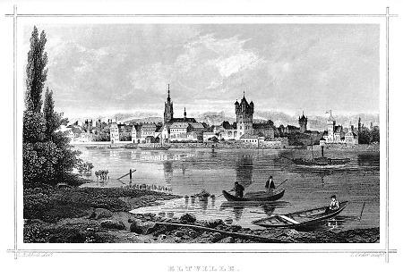 Ansicht von Eltville, 1862