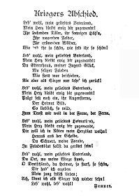Hessische gedichte abschied